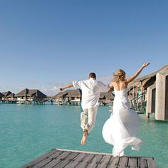 InterContinental Bora Bora Resort and Thalasso Spa (Photo Courtesy of the InterContental Resort) Tahiti Wedding, Summer Wedding, Dream Wedding, Cute Wedding Ideas, Wedding Inspiration, Got Married, Getting Married, Vow Renewal Beach, Bora Bora Resorts
