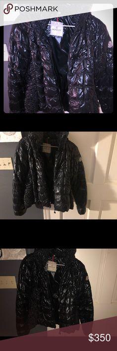 eb2c961e446 Black Moncler Women s Jacket Authentic (Worn) SZ 1 Black Moncler Jacket For  Sale Worn
