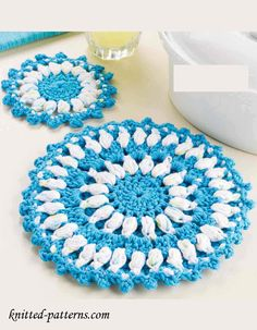 Crochet Hot Pad & Coaster Free Patterns