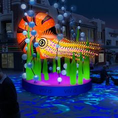 Australia's Vivid Sydney 2015, Light Festival.  This display part of the Flowing River of Light in Chatswood Mall.