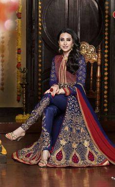 Exquisite Heavy Work Wedding Collection- Royal Blue, Rich Red And Golden Top To Bottom Rich Work Designer Wedding Stunning Collection / Party / Wedding / Festival / Special Occasion - Ready to Stitch