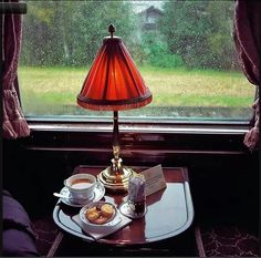 Apricot tea on the Orient Express