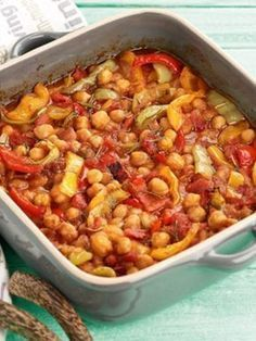 revithia-fournou-me-piperies-ANOIGMA Cooking Art, Greek Cooking, Cooking Recipes, Greek Recipes, Quick Recipes, Greek Meals, Vegetarian Recipes, Healthy Recipes, Food Network Recipes
