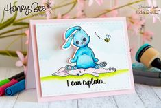 A place where I share all my crafty creations. like I said all things crafty! Cloud Stencil, Spring Scene, Tombow Dual Brush Pen, Bee Do, Honey Bee Stamps, Martha Stewart Crafts, Blue Bunny, Wink Of Stella, Cute Cards