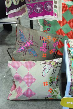 Fabric with insects!  Love!