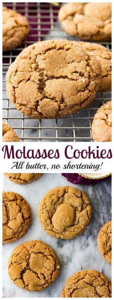 The best Molasses Cookies! #cookie #christmascookie #molasses #recipe #dessert #holiday via @sugarspunrun