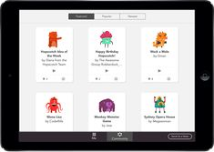 Hopscotch is an iPad app that lets kids drag and drop blocks of code to create their own programs!