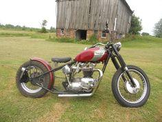 Hardtail Triumph custom #bobber