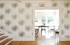 Tumbleweed wallpaper by Carter Design Of Wallpaper, Designer Wallpaper, American Wallpaper, Stanford White, Animal Print Shop, Painting Patterns, Window Coverings, Order Prints, Cool Artwork