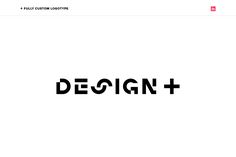 Design+ - Identity Desgin - Logotype, Visual Brand, Brand Elements, Versatile, Modern, Black and White, Pink