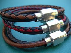 Double Strand Smooth and Braided Mens by UrbanSurvivalGearUSA