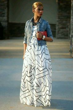 de6c1e9ace0 I love maxi dresses. This one is really cute Maxi Dress With Jacket