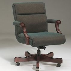 Triune Business Furniture Executive Chair Upholstery Color: Black, Frame Finish: Mahogany, Tilt Mechanism: Included