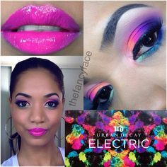 TUTORIAL   Electric Neon Brights w/ the NEW Urban Decay Electric Palette