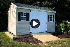 Schuppenrampe: Meine Garage wurde langsam eng und ich entschied, dass ich einen Schuppen für die Rasen- / Gartenausrüstung brauchte. Ich dachte darüber nach, einen zu bauen, aber gegen Kaution und beschloss, einen 10 x 14 Zoll großen Schuppen mit 6 Zoll breiten Türen von der nahe gelegenen Amish-Gemeinde zu kaufen. Um nicht ein zu sein ... Shed Ramp, Amish Community, Garden Equipment, Building A Shed, Lawn And Garden, Woodworking Projects, Outdoor Living, Outdoor Structures, Garages
