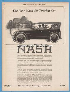 1923 Nash Motors CO Kenosha Wisconsin Six Touring Car antique open automobile Ad