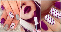 Los mejores diseños de uñas de color morado - Yo amo los zapatos