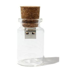 """USB cork Bought it! Love it! It's like a modernized """"message in a bottle"""""""
