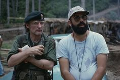 """Dennis Hopper and Director Francis Ford Coppola on the set of """"Apocalypse Now. Apocalypse Now Redux, Pictures For Bathroom Walls, Wall Pictures, Tony Scott, Dennis Hopper, Robert Duvall, Francis Ford Coppola, War Film, Easy Rider"""