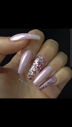 Long simple nails