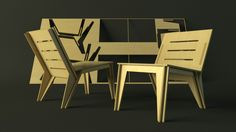2 flat pack chairs cnc cut from a single sheet of 8x4 material.