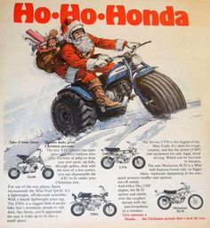 Classic Honda Motorcycles, Old School Motorcycles, Cars And Motorcycles, Japanese Motorcycle, 4 Wheelers, Christmas Makes, Mini Bike, Atc, Vintage Ads