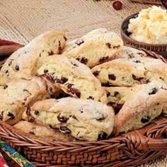 cranberry orange scones.