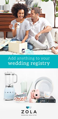 Sign up for Zola, the all-in-one wedding registry that'll do anything for love. Seriously. Ask for everything. We won't deny you anything. How could we?