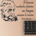 vinilos decorativos con una Frase Einstein, para decoración de interiores y paredes. Con este vinilo puedes decorar tus paredes y llenarlas de sabiduría. Me gusta mucho.