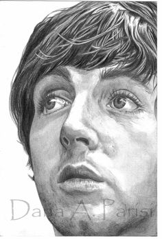 Paul McCartney Pencil Portrait by DanaParisi on Etsy