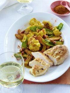 Das Rezept für Blumenkohl-Curry mit Hähnchenbrust (Diät ) und weitere kostenlose Rezepte auf LECKER.de