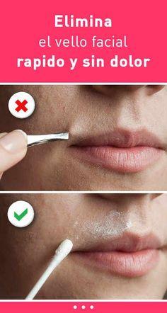 Elimina el vello facial rapido y sin dolor