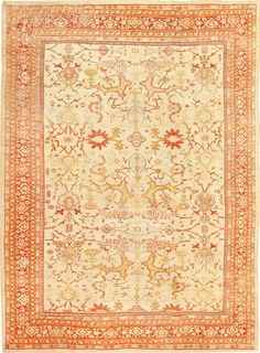 Antique Persian Sultanabad Rug , Country of Origin / Rug Type: Persian Rugs, Circa Date: 1880 9 ft x 12 ft 2 in (2.74 m x 3.71 m)