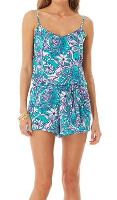 Lilly Pulitzer Deanna Tank Top Romper in Montauk