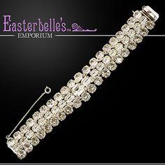 Eisenberg Original Clear Rhinestone Eisenberg Bracelet 385
