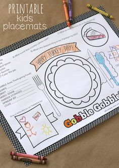 Turkey Day Kids Placemats