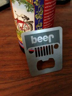 Stainless steel Jeep bottle opener