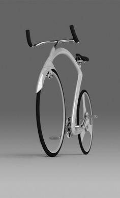 Road bicycle concept par Iron Pyrite - Aucune autre information que ces images, rien davantage concernant son auteur au joli pseudonyme… Au-delà du style athlétique avec un cadre en Z, voici à nouveau un vélo sans moyeu, pour la roue avant uniquement cette fois à la manière du Nulla; on note une transmission classique à l'arrière mais un frein à disque… Un …