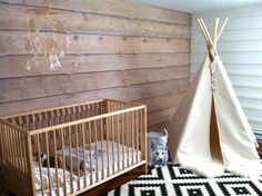 Black and white nursery #nursery #whitenursery #blacknursery
