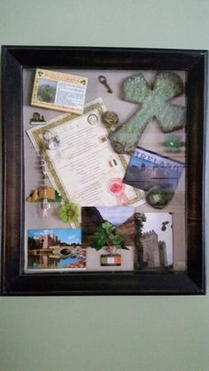 Ireland themed shawdow box