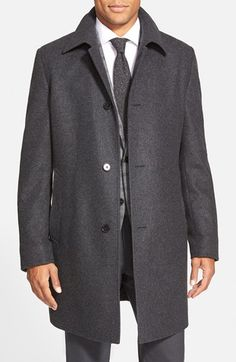 BOSS 'Task' Wool Blend Topcoat available at #Nordstrom