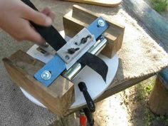 Home made Leather Splitter - If I thought I needed one, I would make this one…