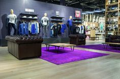 France, La Halle. The icing on the cake is carefully chosen flooring from Pergo, guaranteeing great appearance and long lifetime. Its extremely durable TitanX layer protects the floor from scratches from kid buggies and moving clothing racks. #Retail #Shop #Flooring #Pergo www.pergo.com