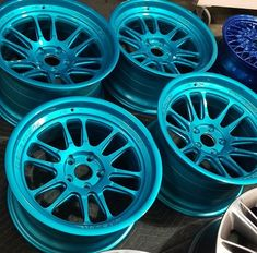 Buy Now - MIT Candy Teal is a High gloss powder coating with an ultra-smooth glassy like finish Jeep Wrangler Jk Accessories, Rims For Cars, Green Powder, Powder Coating, Alloy Wheel, Custom Paint, Teal, Blue, Car Accessories