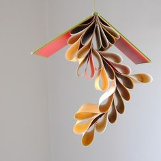 hanging book display - could use envelopes