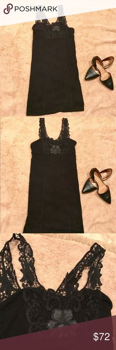 Free People Floral Laced Bodycon  Dress NWOT Never worn only tried on and I cut the tags off before I tried it on . It has no flaws lightweight and comfortable this dress is perfect to wear for any occasion Free People Dresses Mini
