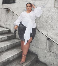 Plus size outfits Thick Girl Fashion, Plus Size Fashion For Women, Curvy Fashion, Plus Size Women, Plus Fashion, Look Plus Size, Curvy Plus Size, Plus Size Dresses, Plus Size Outfits