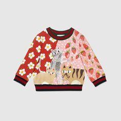 Baby cat print cotton sweatshirt