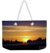 Foggy Morning Sunrise Weekender Tote Bag by Bill and Deb Hayes