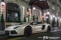 Lamborghini Aventador spotted in Paris, France